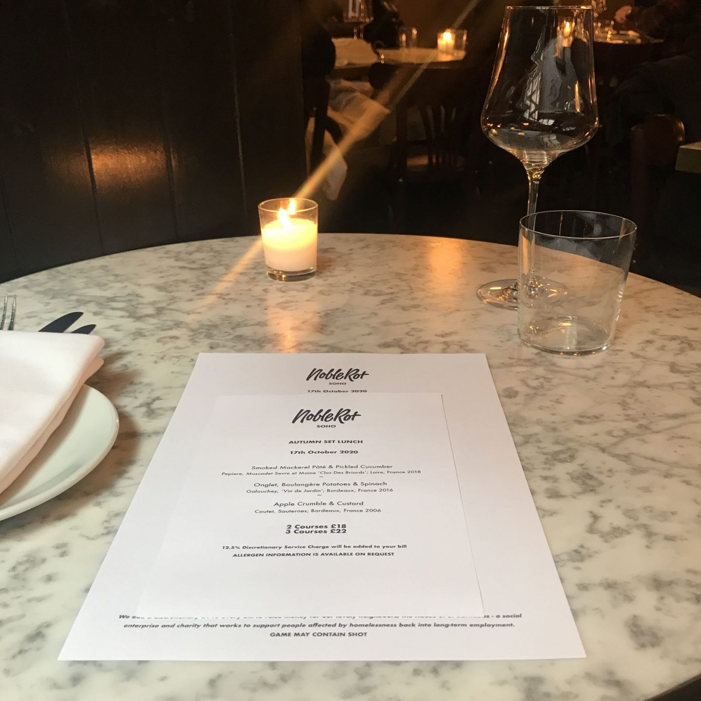 Solo Dining at Noble Rot, London – reign supreme!