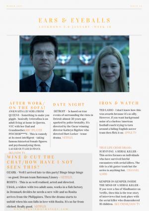 EARS & EYEBALLS: WHAT TV & FILM TO WATCH THIS WEEK